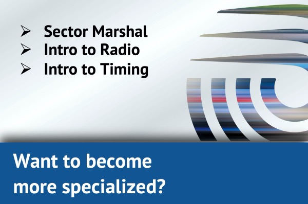 Want to become more specialised? Sector Marshal, Intro to Radio, Intro to Timing